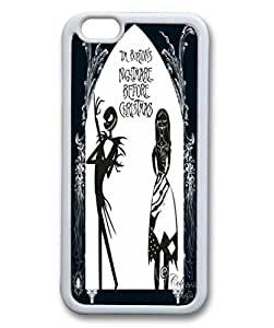 Customized Cute Cartoon Movie The Nightmare Before Christmas jack and sally Wallpaper Rubber Case Cover for iPhone 6 by mcsharks