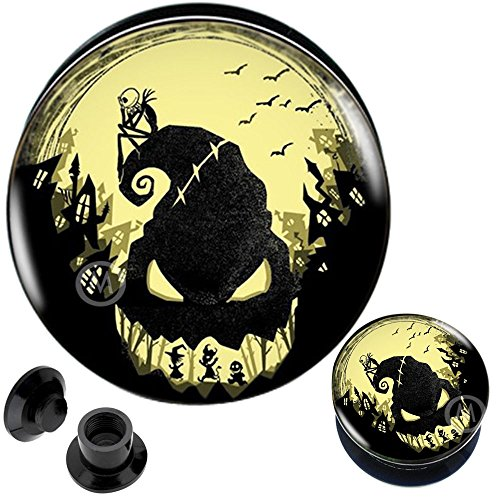3/4 Inch gauges Ear Plugs Surgical Steel Flesh Tunnels Double Flare Expander Stretcher #76 MoDTanOiz 20mm
