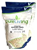 Pure Living - Organic Sprouted Rolled Oats 16 oz - 2 Pack