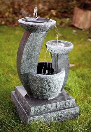 Style Solarbrunnen Solar Gartenbrunnen Caskaden Brunnen Led Amazon