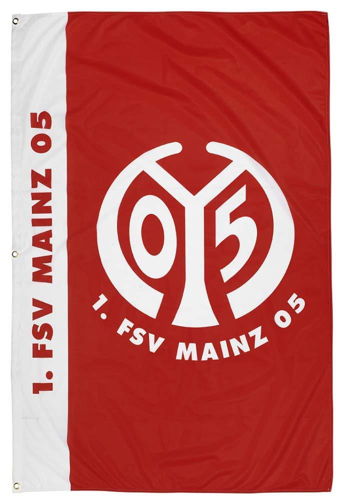 Flaggenfritze Hissflagge 1 100 x 150 cm gratis Aufkleber FSV Mainz 05 Schriftzug