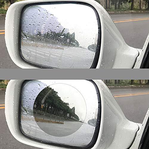 Sandistore Car Rearview Mirror Film,Car Anti Water Mist Film, HD Anti-Fog Nano Coating Rainproof Film. Anti-Glare,Anti-Scratch Screen Protector for Rear View Mirror (2 PCS) by Sandistore Sport (Image #1)