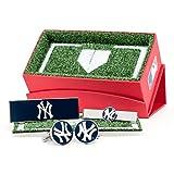 New York Yankees Cufflinks, Tie Bar, and Money Clip Gift Set
