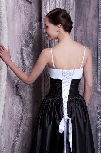Schwarz Laenge Schwarz Einfache GEORGE T Gurt BRIDE Abendkleid nqaxW4wF