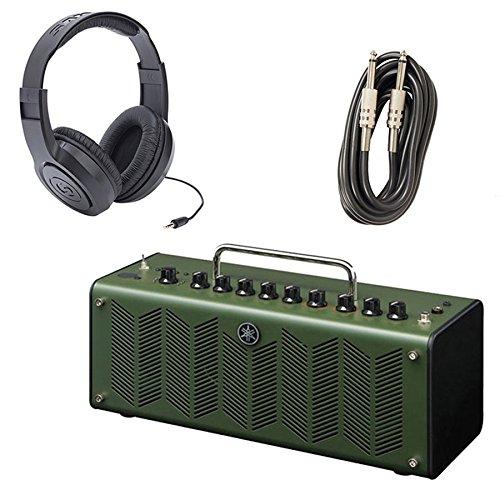 Yamaha THR10X Desktop Modeling High Gain Guitar Amp with Samson SR350 Stereo Headphones and AxcessAbles I-010 Guitar Instrument Cables - 10 Feet by eStudioStar