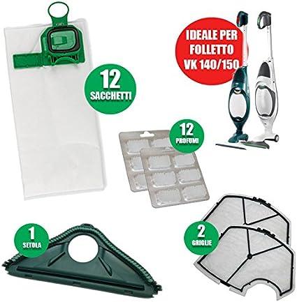 Folletto compatibile vk 140//150 12 sacchetti 12 profumi new 2 filtro TOP