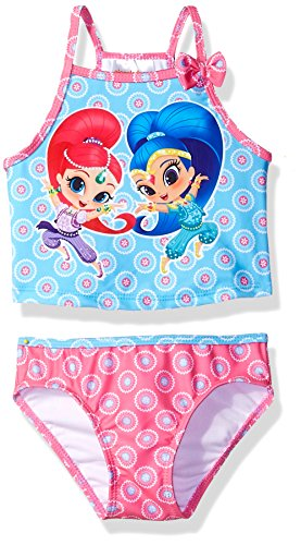 Nickelodeon Toddler Girls' Shimmer and Shine Swimsuit, Hot Pink, 2T