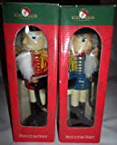 Kurt Adler Set of 2 Wooden The Nutcracker Soldier 9'' Red & Blue
