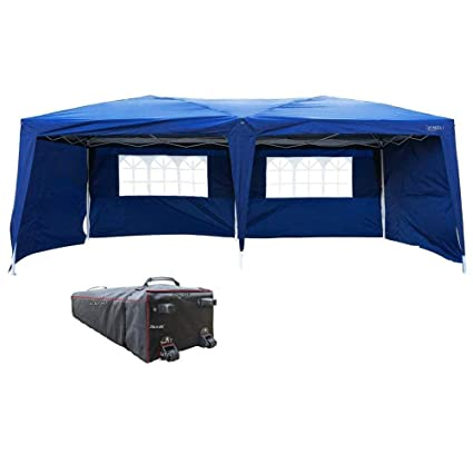 VINGLI 10u0027x20u0027 Ez Pop Up Canopy Tent with 4 Removable Sidewalls Panels  sc 1 st  Amazon.com & Amazon.com: VINGLI 10u0027x20u0027 Ez Pop Up Canopy Tent with 4 Removable ...
