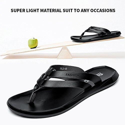 Pictures of BINSHUN Men Thong Sandals Flip Flops Lightweight 5