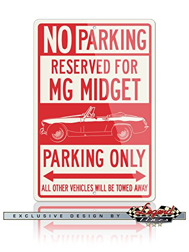 MG Midget Convertible 1961 - 1979 Reserved Parking Only A...