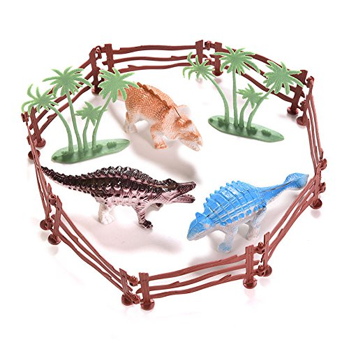 New 13 Pcs Toy Dinosaur Model with 3D Jungle Classic Boys Gift N@N