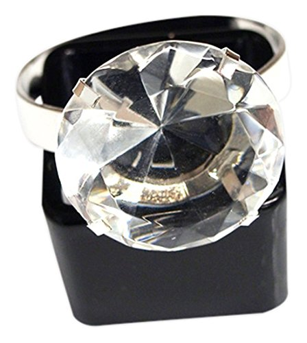 Homeford FNS007227SIL Acrylic Diamond Napkin Holder Ring,...
