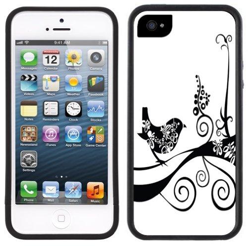 Schwarz Filigree Abbildung   Handgefertigt   iPhone 5 5s   Schwarze Hülle