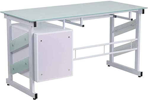 Flash Furniture White Computer Desk