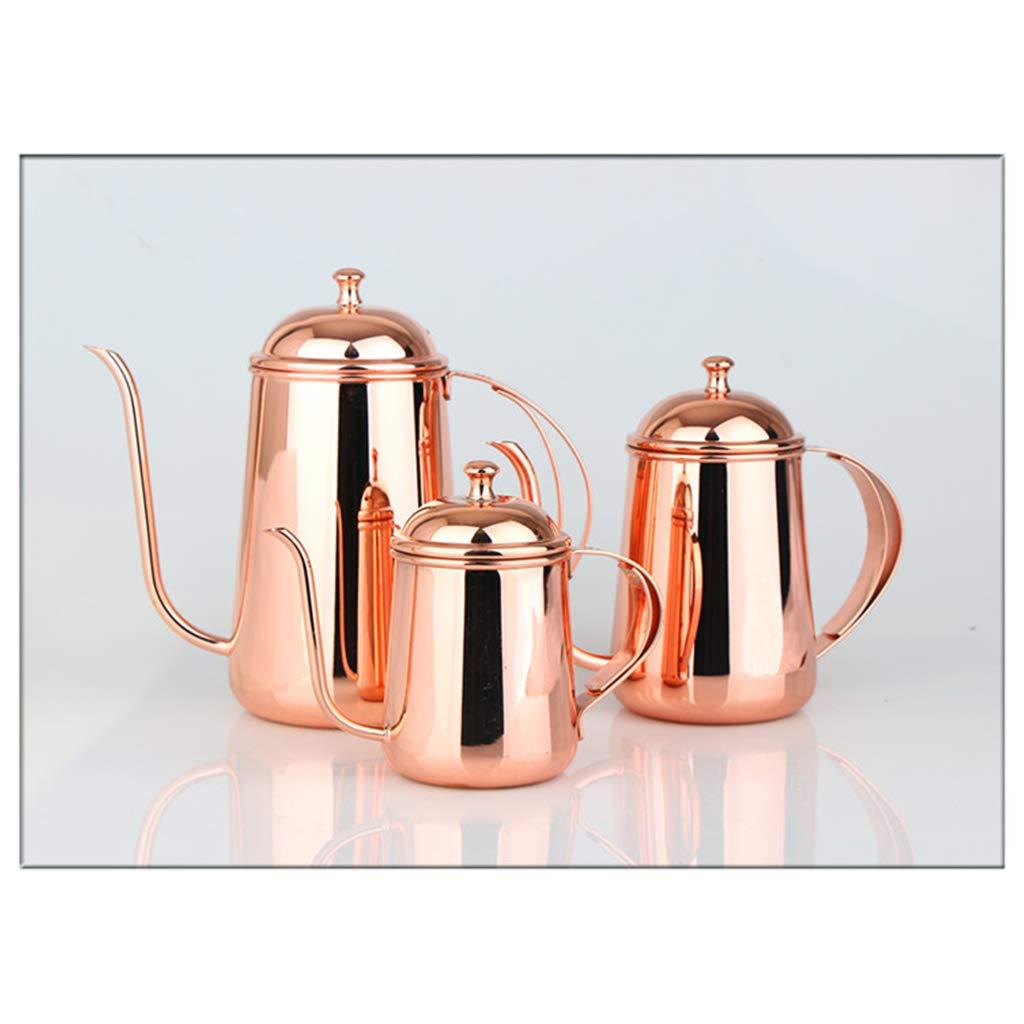 Hervidor JXLBB Directo de fábrica Oro Rosa Cafetera 304 Acero ...