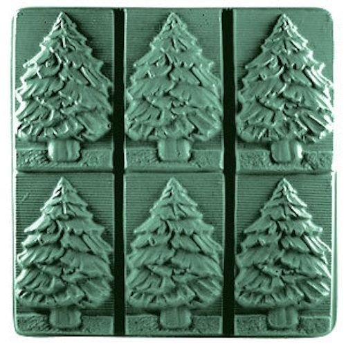 Fir Tree Milky Way Soap Mold - Melt and Pour - Cold Process - Clear PVC - Not Silicone - MW 96 ()