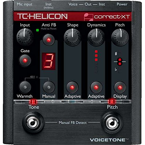 TC Electronic VoiceTone Correct XT Voice Processing and Pitch Correction Floor Pedal ()