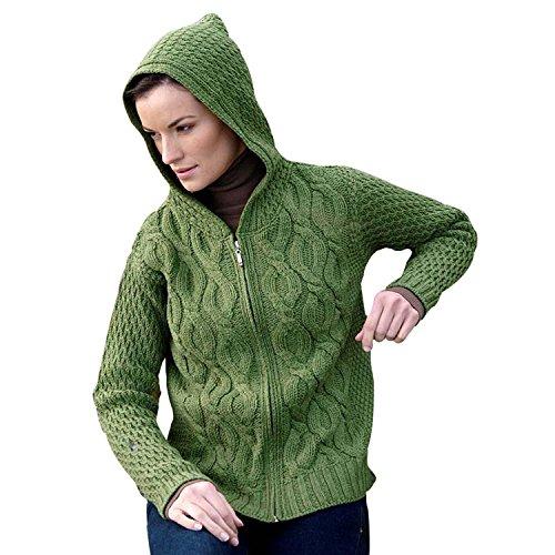 100% Irish Merino Wool Zip Sweater Small- Fast delivery from Ireland