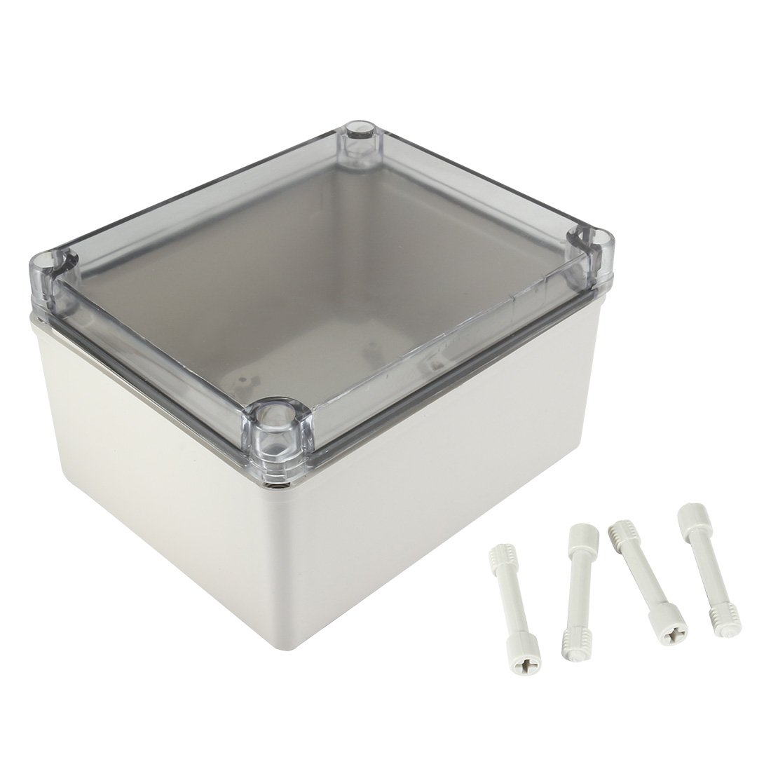uxcell 5.5''x6.7''x3.7''(140mmx170mmx95mm) ABS Junction Box Universal Project Enclosure w PC Transparent Cover