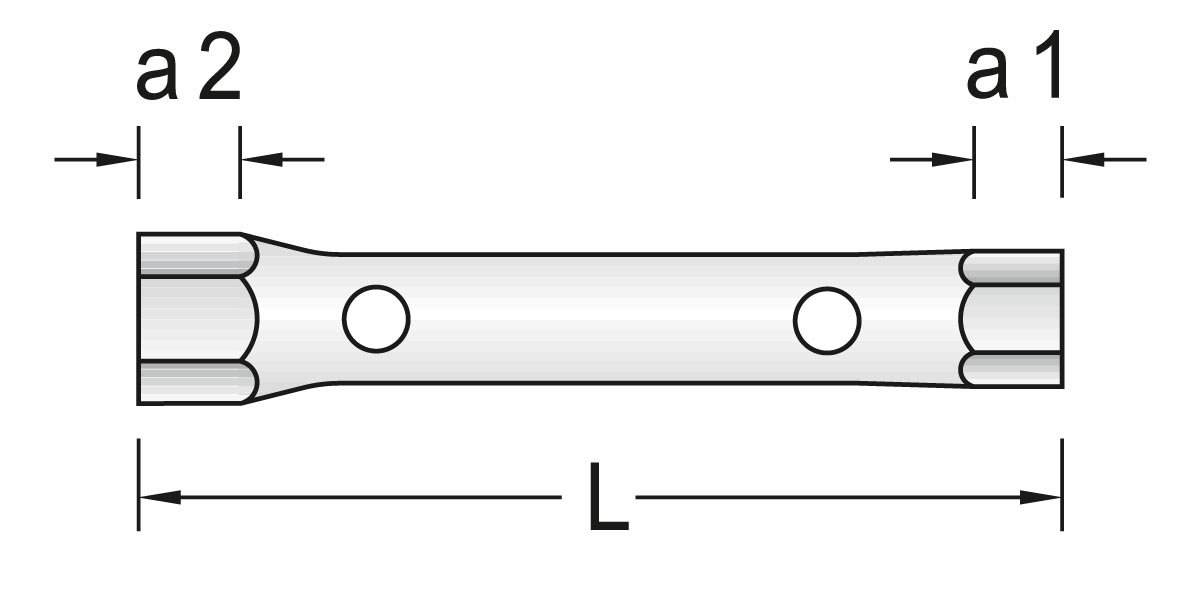 GEDORE KD 26 R-120 Doppelsteckschl/üssel-Satz 12-TLG 6-32 mm