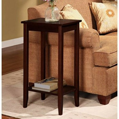 Durable Solid Rosewood Construction Tall Side End Table (Rosewood Table Oval Coffee)