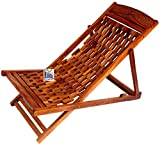 National Handicrafts Folding Relaxing Chair (Brown)