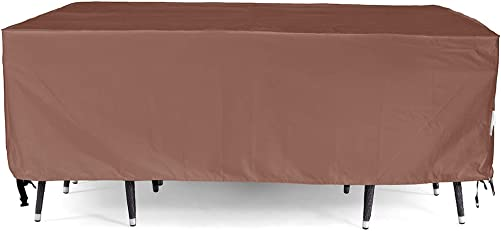 Patio Furniture Cover, Waterproof, Tear-Resistant, UV Resistant Outdoor Table and Chair, Sofa, Sectional Cover, 128×82 inches