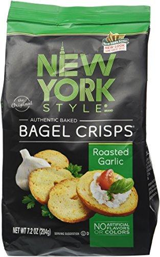 New York Style Original Bagel Crisps Roasted Garlic,7.2 OZ by New York Style Bagel by NEW YORK STYLE