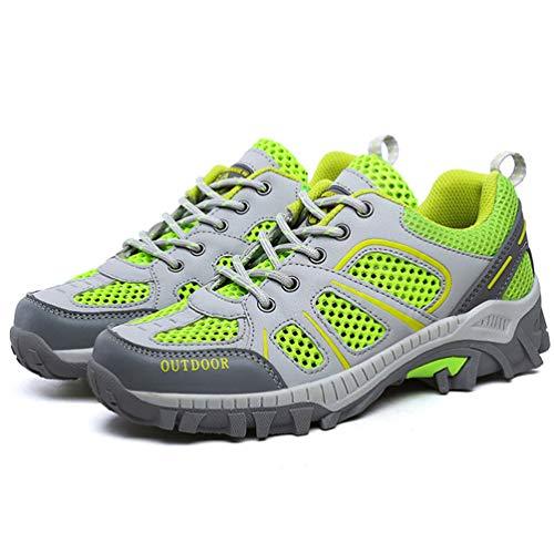 Parejas Primavera para Unisex Verde Malla Zapatos Verano Fluorescente Casuales Adultos Zapatillas Transpirable pxwY76q