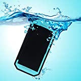 PARLT HTC One M8 IP68 Underwater Case Dot View Waterproof Dustproof Snowproof Shockproof Mesh Screen Armor Defender Built-in Stand Smart Cover Case (Blue)