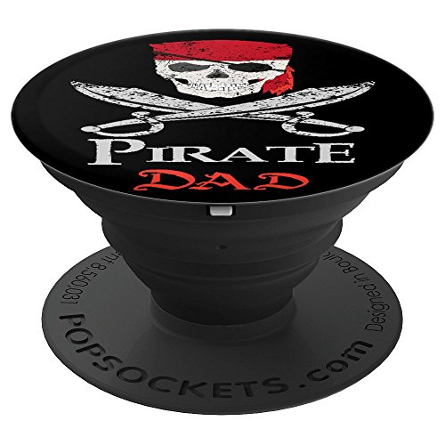 Pirate Dad Father Papa Pop Daddy Dada Fathers Day Halloween - PopSockets Grip and Stand for Phones and -