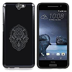 - Grey Owl Wolf Native Pattern Indian - - Snap-On Rugged Hard Cover Case Funny HouseFOR HTC ONE A9