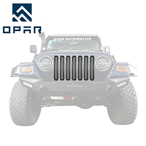Opar Black Front Grill Mesh Inserts for 1997 - 2006 Jeep Wrangler TJ & Unlimited (Pack of 7)