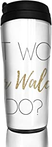 BaboLye What Would Blair Waldorf Do - Light Type ABS Travel Coffee Mugs With QuickSeal Lid Insulated 12 OZ Double Wall Water Coffee Cup