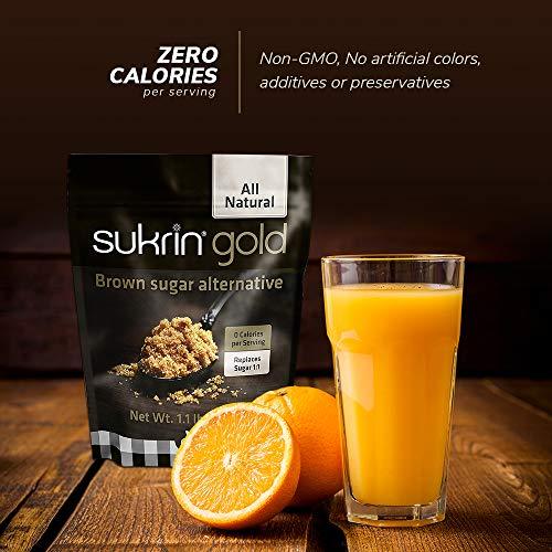Sukrin Gold - The Natural Brown Sugar Alternative - 1.1 lb Bag by Sukrin (Image #3)