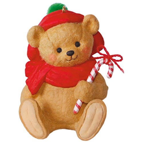 Hallmark Keepsake 2017 Mary Hamilton's Bears Candy Cane Beary Festive Christmas Ornament (Bear Ornament Christmas Tree Teddy)