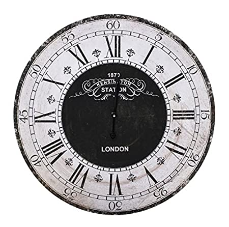 Black And White Vintage Inspired London Kensington Station Wall Clock U2013  Perfect For Any Living Room