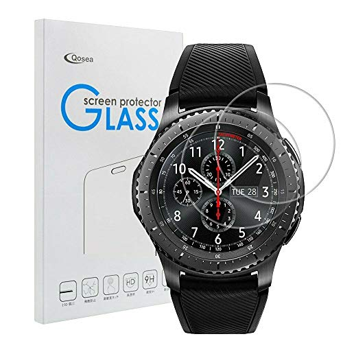 for Galaxy Gear S3 Frontier Screen Protector 2 Pack Tempered Glass HD 9H