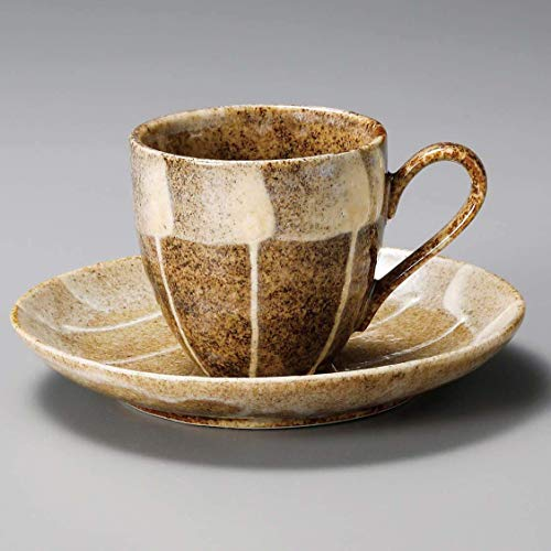 Yamakiikai Coffee Cup & Saucer Set jujube L1274 from Japan