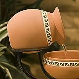 Beautiful Top Selling Terra Cotta Solar Mosaic Design Outdoor Garden Yard Birdbath Fountain- Elegant Santa Fe Art Finish Style- Solar Power Low-Voltage Water Pump Inc- Adds Beauty Charm To Back Yards For Sale