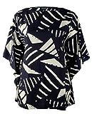 Lauren Ralph Lauren Women's Plus Size Graphic Print Poncho Tunic-NI-2X