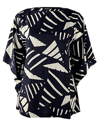 Lauren Ralph Lauren Women's Plus Size Graphic Print Poncho Tunic-NI-2X by Lauren by Ralph Lauren