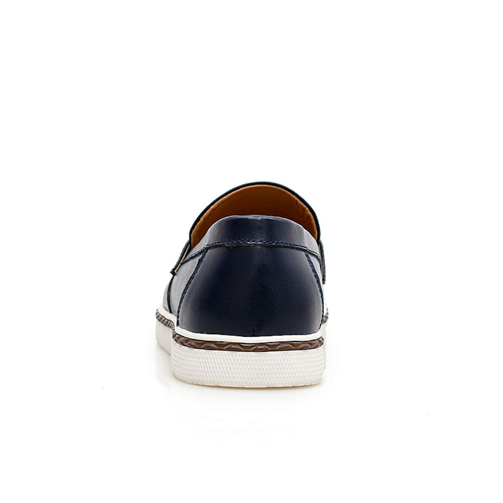 TongLing Mens Fashion Oxford Casual Comfortable Slip On Cowhide Leather Formal Shoes Fashion Slipper