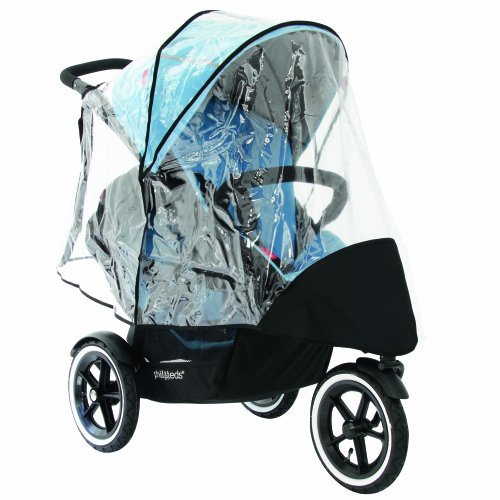philandteds Stormy Weather Cover for Double Navigator Stroller, Clear, Baby & Kids Zone