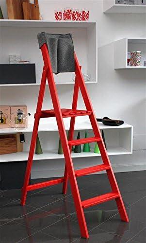 bioecoshop escalera de 6 peldaños bioeco DF Ho Red tinta rojo con tascone Porta Herramientas: Amazon.es: Bricolaje y herramientas