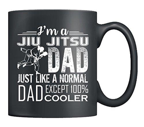 Jiu Jitsu Coffee Mug - I'm A Jiu Jitsu Dad Mug Ceramic, Tea Cup Black 11Oz, Best Gifts For Friends (Black)