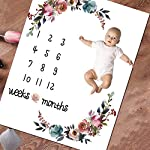 Baby-Monthly-Milestone-Blanket-Floral-Plush-Fleece-Baby-Photography-Backdrop-Memory-Blanket-for-Newborns-Large-New-Moms-Baby-Shower-Gift-Set