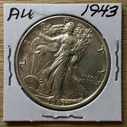 Genuine ~AU 1943 Walking Liberty Half-Dollar 90% Silver (L225)
