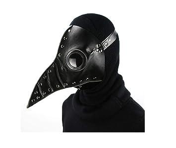 DUBAOBAO Peste Médico Máscara Pájaro Largo Nariz Faux Cuero Steampunk Halloween Traje Atrezzo, Gótico Papel